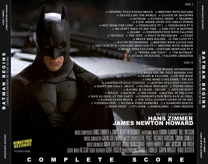 Batman Begins Soundtrack Cover
