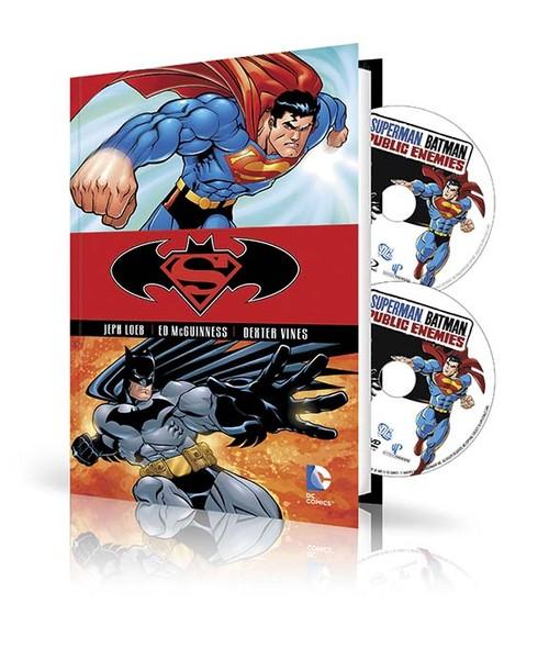 SUPERMAN/BATMAN: PUBLIC ENEMIES HC BOOK AND DVD/BLU-RAY SET