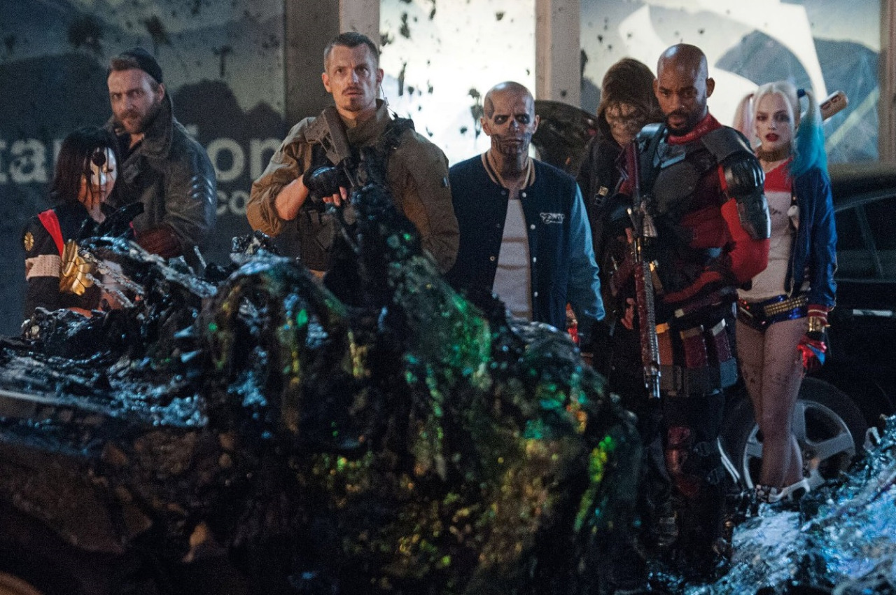 Promo shot from Suicide Squad as featured in Total Film magazine