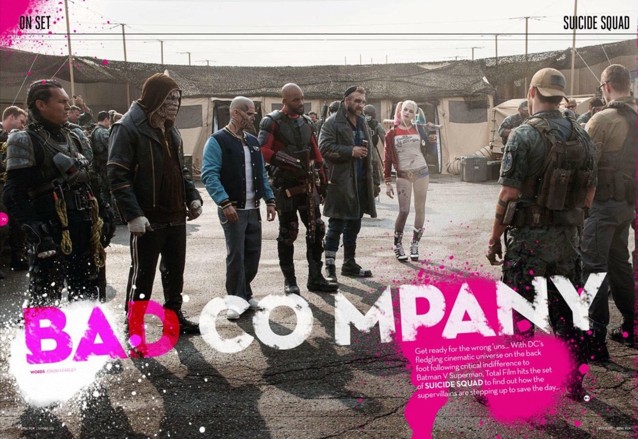Bad Company. Set photo from Suicide Squad