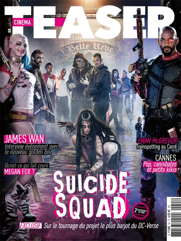 Suicide Squad appears on Cinema Teaser cover