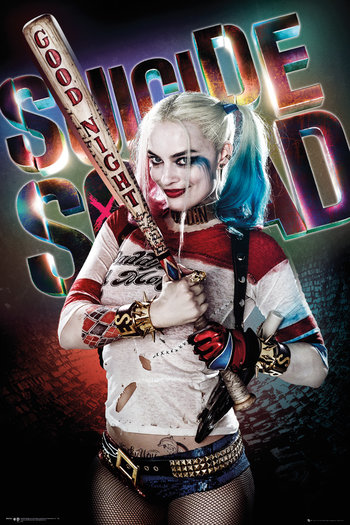 Character poster featuring Margot Robbie as Harley Quinn