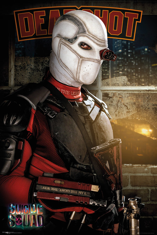 Character poster featuring Will Smith as Deadshot