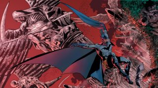 The Batman's Grave - art by Bryan Hitch
