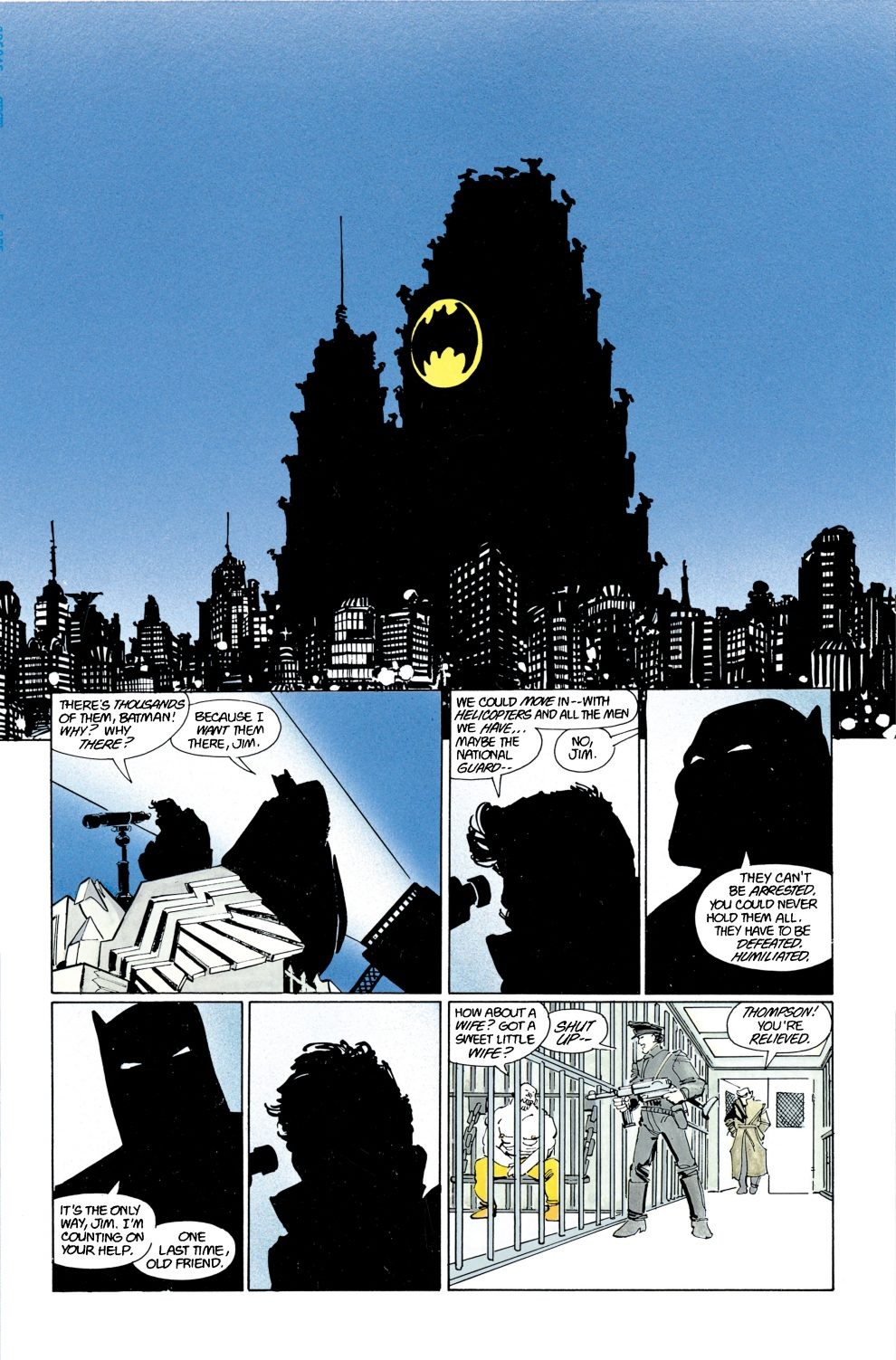 Bat-Signal in 'The Dark Knight Returns'. Image courtesy of DC