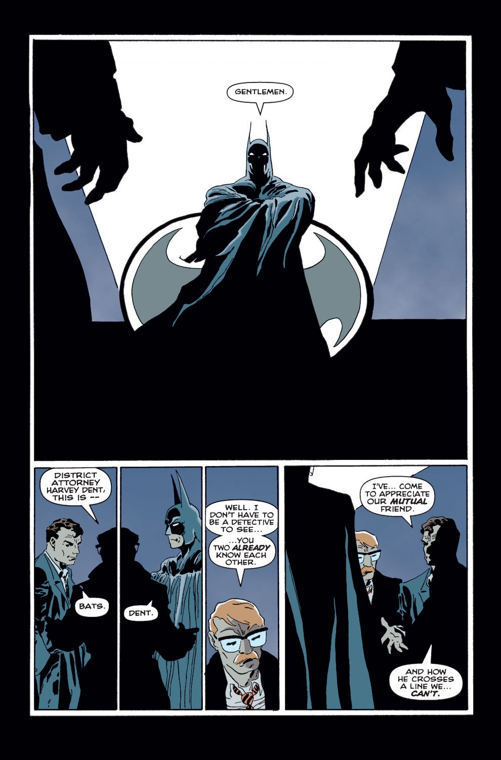 Bat-Signal in 'The Long Halloween'.  Image courtesy of DC