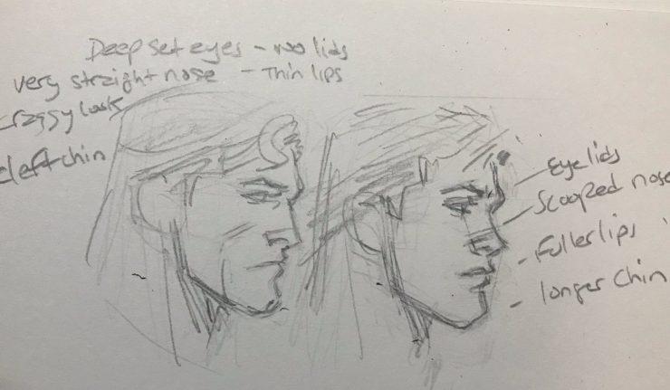 Greg Capullo draws Bruce Clark differently